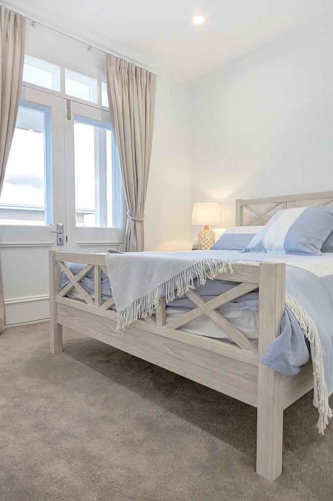 hamptons bedroom french doors