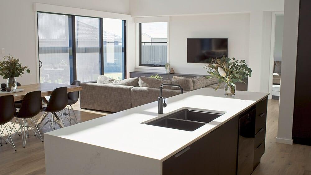 urban kitchen living area